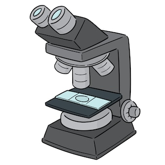 Vector van de microscoop