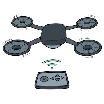 Vector van drone