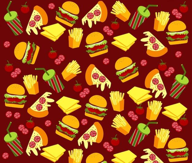 Vector van fast food pattern.