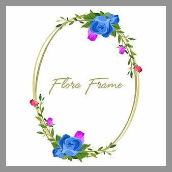Vector van floraframe