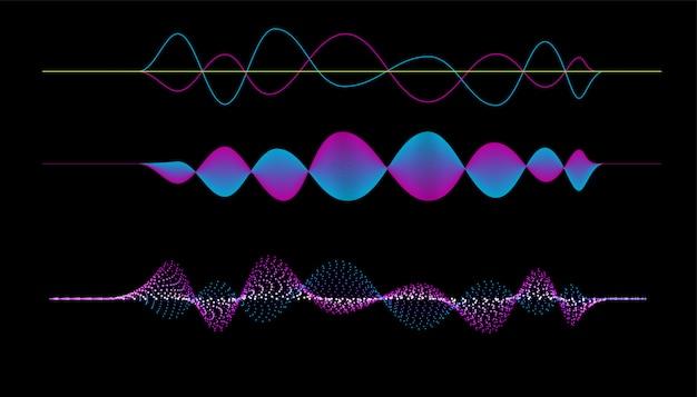 Vector van frequentie audio muziek equalizer
