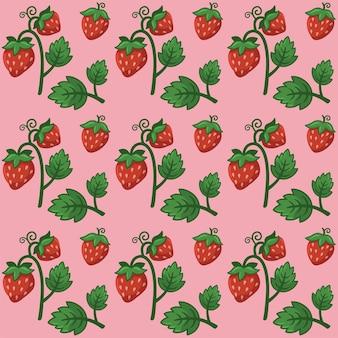 Vector van het patroonontwerp van het aardbeifruit
