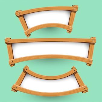 Vector van houten bannerontwerp