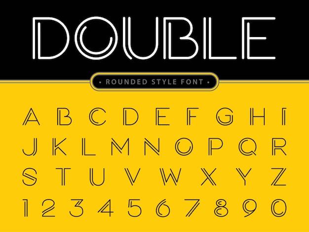 Vector van moderne letters en cijfers van het alfabet