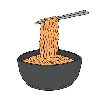 Vector van noodle