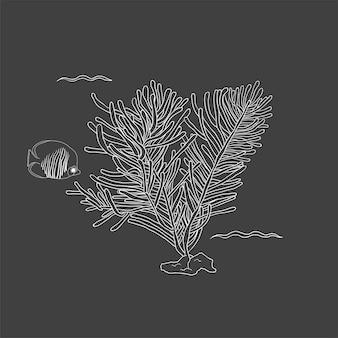 Vector van onderwater wezens