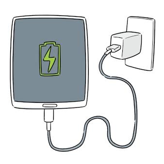 Vector van smartphone opladen