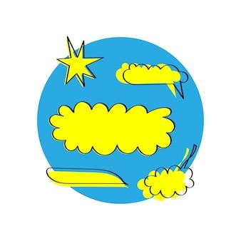 Vector van spraak bubbels collectie