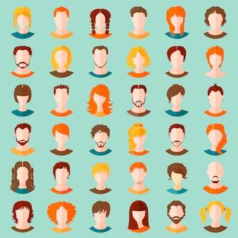 Vector van stijlvolle avatars