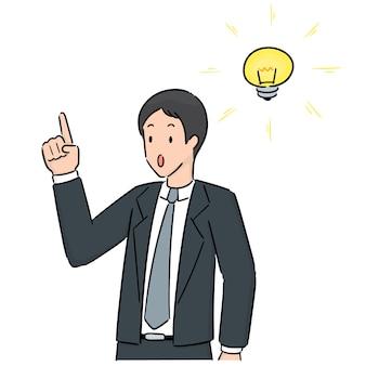 Vector van zakenman denken
