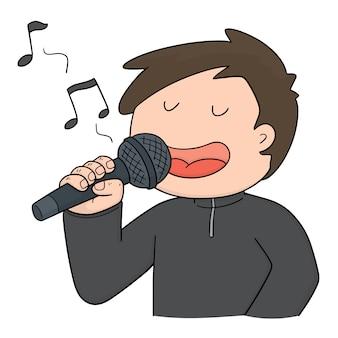 Vector van zanger