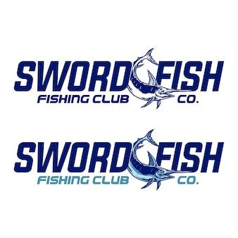 Vector van zwaardvis logo type ontwerp