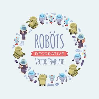 Vector verfraaien ontwerp gemaakt van robots
