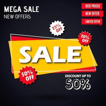 Vector verkoop banner ontwerpen