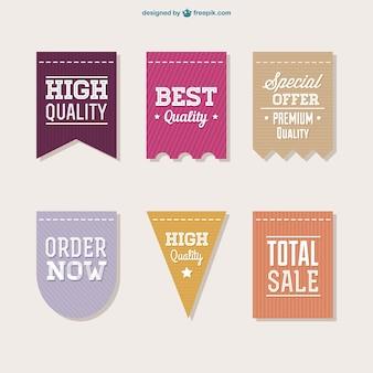 Vector verkoop labels collectie
