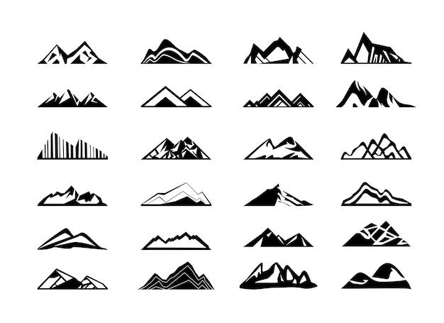 Vector verzameling bergen