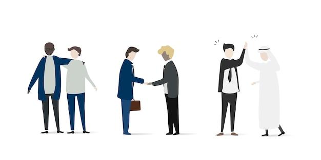 Vector verzameling van mensen uit het bedrijfsleven