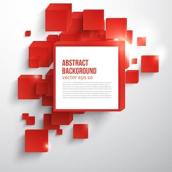 Vector vierkant. abstracte achtergrondkaart rood.