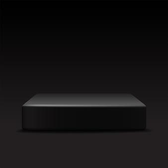 Vector vierkant podium op zwart
