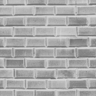 Vector vintage bakstenen geconfronteerd met tegel muur zwart-wit zwart-wit stip halftone abstracte realistische decoratie achtergrondtextuur