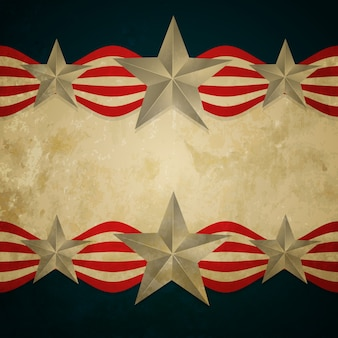Vector vintage stijl amerikaanse vlag ontwerp