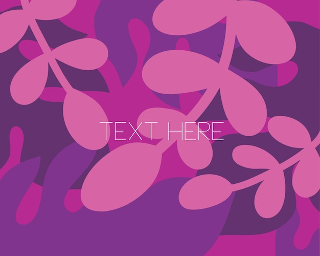 Vector vlak illustratiekader van purpere bloesembloem met lege teksten