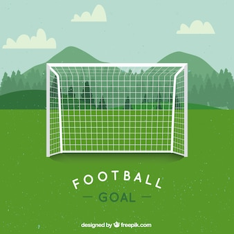 Vector voetbal doel