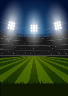 Vector voetbalstadion