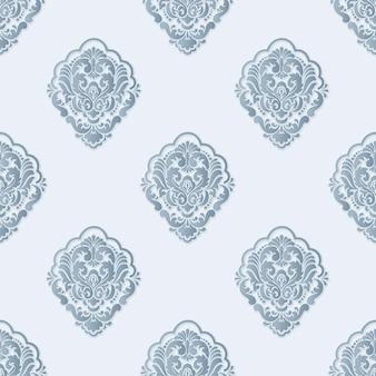Vector volumetrisch damast naadloos patroon