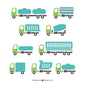 Vector vrachtwagens inpakken
