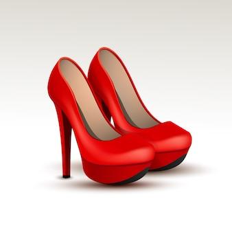 Vector vrouw mode schoenen op hoge hakken