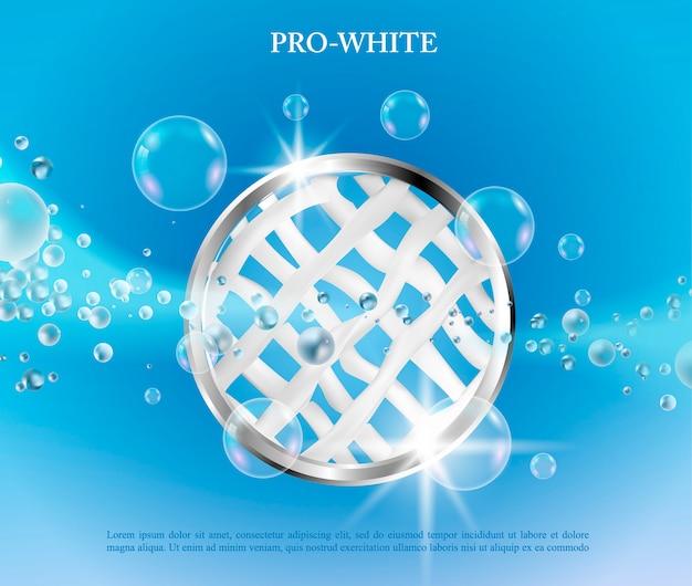 Vector wasserij concept poster.