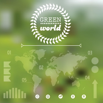 Vector wazig landschap. eco-set voor ontwerp