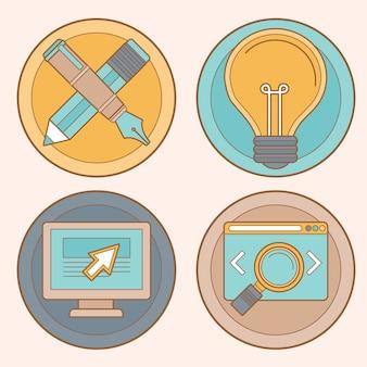 Vector webdesign en -ontwikkeling