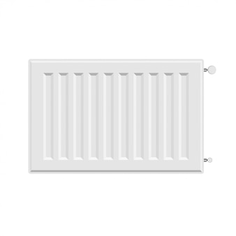 Vector white radiator heater