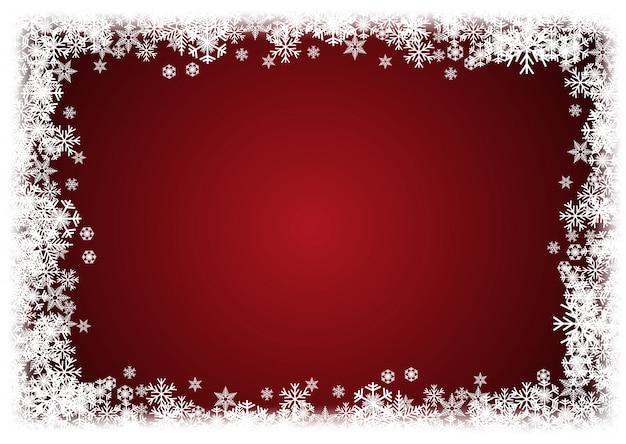 Vector winter achtergrond. een koude kerst. frame gemaakt van sneeuwval en ijskristallen