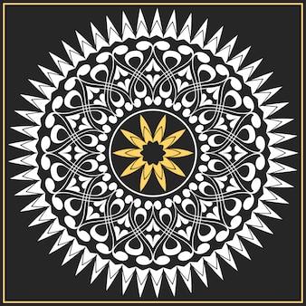 Vector wit en goud patroon van spiralen, wervelingen, kettingen