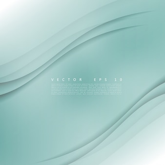 Vector wit van golvende banner.