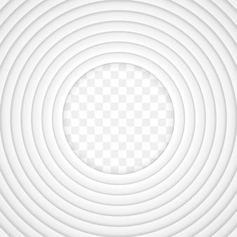 Vector witboek gesneden achtergrond met innerlijke schaduw