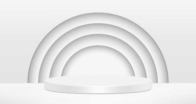 Vector witte cirkels abstracte achtergrond.
