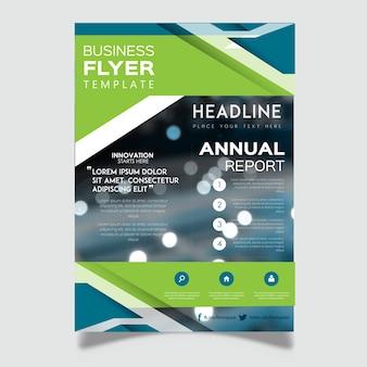 Vector zakelijke flyer ontwerpen