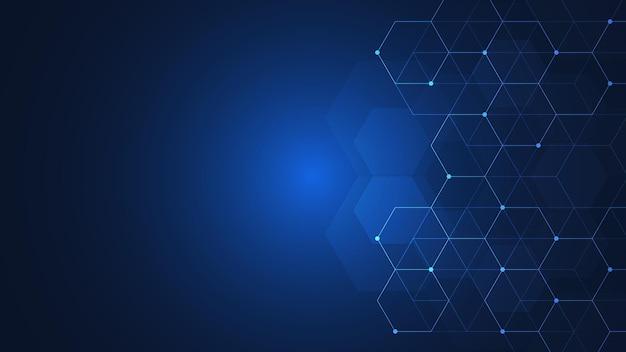 Vector zeshoeken patroon. geometrisch abstracte achtergrond met eenvoudige zeshoekige elementen. medisch, technologisch of wetenschappelijk ontwerp.