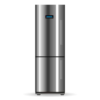 Vector zilveren koelkast