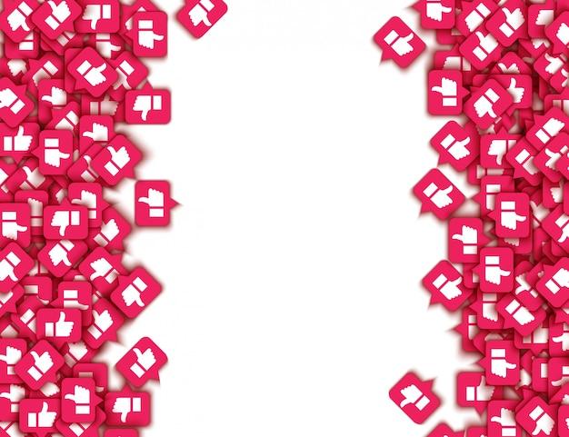 Vector zoals duimschroef opwaarts pictogrammen web knoppen patroon