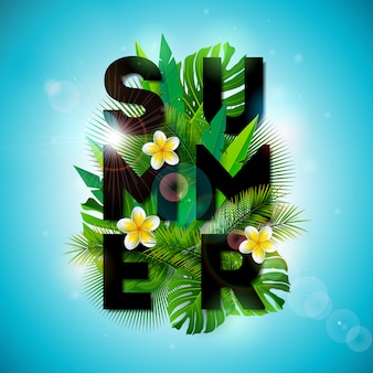 Vector zomer typografische illustratie