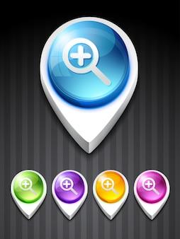 Vector zoom icoon ontwerp kunst