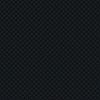 Vector zwart donkergrijs monochroom abstract geometrisch naadloos patroon voor achtergronden, ingepakt papier, stofafdrukken en verschillende oppervlakteontwerpen