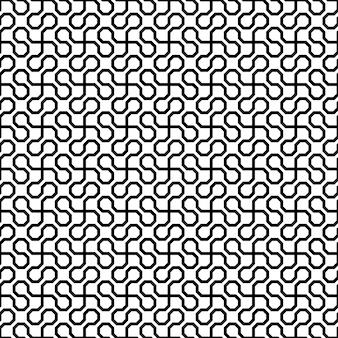 Vector zwart op wit monochroom abstract geometrisch naadloos patroon voor achtergronden, ingepakt papier, stofafdrukken en verschillende oppervlakteontwerpen