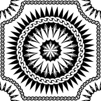 Vector zwart patroon van kettingen