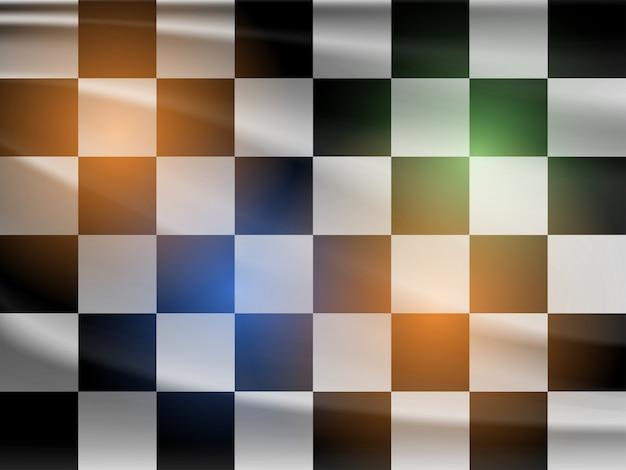 Vector zwart-witte race vlag
